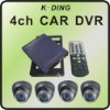 4 Channel D1 Mobile CCTV DVR System with 4 CCD Cameras, GPS Wifi Optional