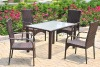 PE aluminum patio garden outdoor wicker dining set