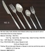 Stock No.05 Stainless Steel Stock Item high quality Cutlery Set