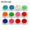 N-16 colourful acrylic nail glitter powder