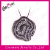 Micro pave CZ setting jewellery fashion pendant brass copper jewelry