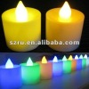 LED round yellow blinking wedding decoration candle