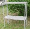 Greenhouse Standing Aluminum White Garden Bench RCS351275(G)