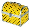 CM-8029 round top makeup vanity case, polka dot cosmetic box