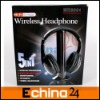 5 in 1 Wireless Headphone FM Radio Headset wirless Headset with Retail Package Accept Paypal and Small Order