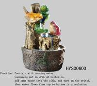bird design with fountain