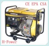 6KVA/5KW Small Air-Cooled Open Type Diesel Generator HP6500CX(E)