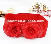 lady red elastic belt