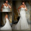 ML 3138 Charming Off-shoulder Floor Length Lace Used Plus Size Wedding Dresses