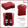 wine Box for two wine bottles with smile face