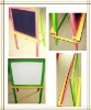 Kids Black Board & Magnetic Board Wooden Easel QL-301