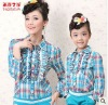 2012 new Autumn/Spring plaided Children shirt,5pieces/lot,Top quality fashion shirt for woman and baby girls