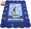 100% cotton baby bedding set /blue sailing /sea carton