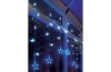 LED Curtain Light, 54 Blue and White Led Star Curtain Light