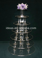 detachable clear acrylic cupcake display stand for wedding cakes