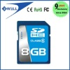Full capacity high speed SDHC sd card 8GB