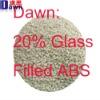 20% GF nature ABS plastic granules