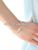 Bracelets 2012 punk simple cross bracelet fashion jewelry
