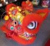 Lion Dance Lion Head With Plume in Red Color