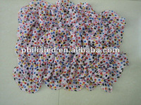 very beautiful pink dot full screen printing scarf