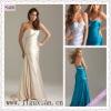 2090-1hs Elegant Sweetheart Ecru Beading Sheath Ruching Open Back Floor Length cocktail prom dress
