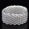 Classic Mesh Ring Jewelry in Sterling Silver,Silver Jewelry,Silver Rings