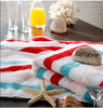 100% terry cotton striped beach towel