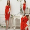 2012 Best Sell One Shoulder Hot Red Front Split Cocktail Dress YBCD-0014