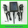 Solar spot light with 2W solar panel and 6/12pcs LED