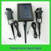 Solar spot light with 2W solar panel and 6/12pcs LED
