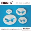 Plastic butterfly cake cutter set 4,high quality cake tools