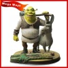 Famous movie character Shrek with his buddy resin figure