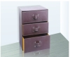 3 Drawer Leather Cabinet