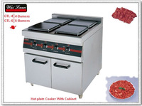 2012 year New electric 4 Hot-plate Cooker with cabinet