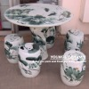 Jingdezhen Hand crafted ceramic stools and tables