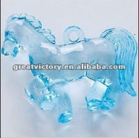 34x43mm clear blue acrylic plastic pony beads