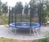 Large Trampoline 12ft ( with outside net)