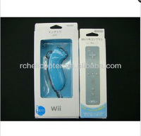 Free Shipping Nunchuck + Remote Controller Built in Motion Plus For Nintendo Wii Gane Blue Without Package