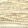 Popular 4mm white turquiose beads with a few coffee lines