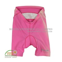 Lady pink cycling shorts with Coolmax crotch pad