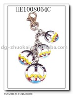 alloy peace pendants Key Chain