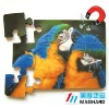 poll parrot Magnetic Puzzle diecut 12pcs DIY Toy
