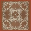 Square Shape Ivory Laser Embroidery Table Cloth Lace