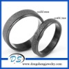New Fashion Black Scrub Couple Rings Stainless Steel Rings