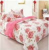 coral fleece blanket and bedsheet