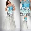 Luxury colorful sequined sweetheart neckline sheath evening wear