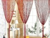 red color string curtain
