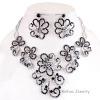 Fashion Alloy Rhinestone Necklace Earring Jewelry Sets
