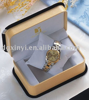 Luxury design black outer coated high end watch boxes wholesale