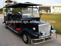 Luxury model battery operated 8 seater retro electric tourist vehicle cart